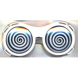 White X-Ray Hypnotizing Sunglasses with Swirl Lens