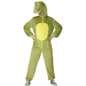 Smiffy's Men's Crocodile Adult Costume Jumpsuit with Hood Large