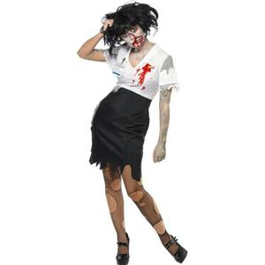 Smiffys Women's Zombie Secretary Worked To Death Costume Size XS 2-4