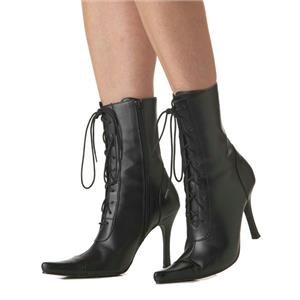 Sexy Lace Up Black Witch Boots Size Medium 7-8