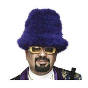 Purple Marabou Feather Foam Costume Top Hat