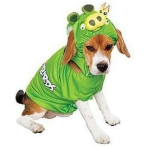 Angry Birds King Pig Dog Pet Green Costume Size Small