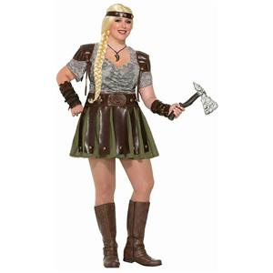 Forum Women's Plus-Size Full Figured Viking Woman Adult Costume