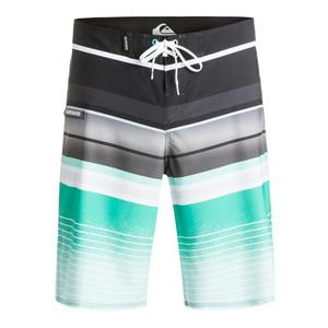 "Quiksilver Men's Everyday Stripe 21"" Boardshorts Green/Grey Stripe 32"