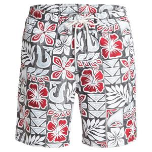 "Quiksilver Mens Crescent Head 18"" Volley Boardshorts Grey/Red L"