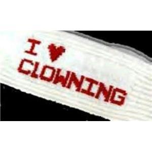 I Love Heart Clowning Socks