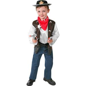 Rubie's Boy's Children's Western Cowboy Costume Dress Up Playset Size Small 4-6