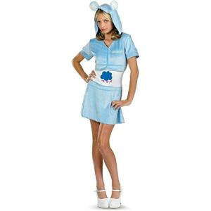 Disguise Tween Girls Care Bear Grumpy Bear Blue Hoodie Dress Size 14-16