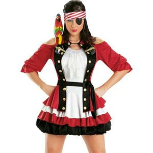Escante Women's Cap'n Shooter Sexy Pirate Adult Costume Small 2-6