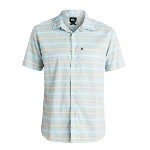Quiksilver The Aventail Shirt Button Up Blue/Grey Medium