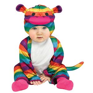 Fun World Rainbow Sock Monkey Infant  12-24 Months Colorful Costume
