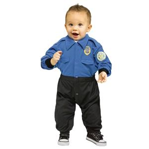 Fun World Policeman Infant Costume Jumpsuit 12-24 months