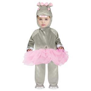 Fun World Baby Girls Hippo Ballerina Tutu Dress Jumpsuit Infant 12-24 Months