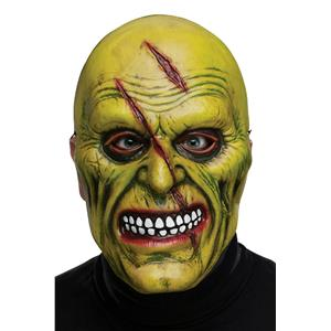 Fun World Adult Green Zombie Plastic Character Costume Mask