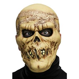 Fun World Adult Skull Skeleton Mummy Plastic Character Costume Mask