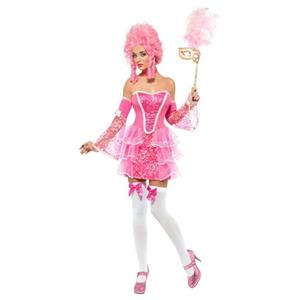 Fever Pink Marie Antoinette Fancy Sparkle Womens Masqerade Ball Costume XS 2-4