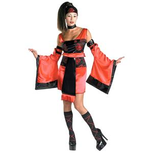 Disguise Women's Worldscape Sexy Samurai Adult Costume Size Large 12-14