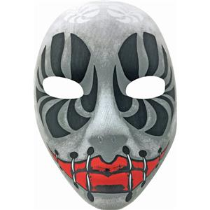 Evil Eyes Black and White Creepy Death Clown Stitches Mask Forum Novelties
