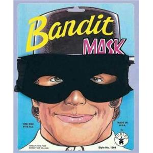 Rubie's Men's Black Bandit Zorro Lone Ranger Foam Fabric Eye Mask