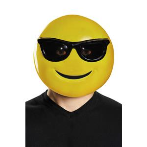Sunglasses Smile Emoticon Emoji Adult Mask