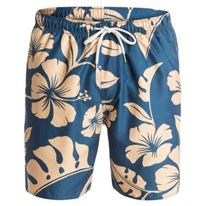 "Quiksilver Mens Nassau 18"" Volley Boardshorts Blue/Yellow Large"