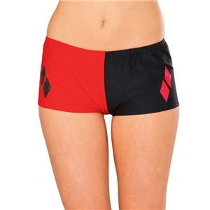 Rubie's Women's DC Comics Suicide Squad Harley Quinn Red and Black Boy Shorts