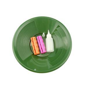 "12"" Green Gold Pan Mining Kit - Snuffer Bottle - 2 Snappy Grips-Mining"