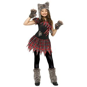 Fun World Wild Wolfie Girl Kids Costume Medium 8-10