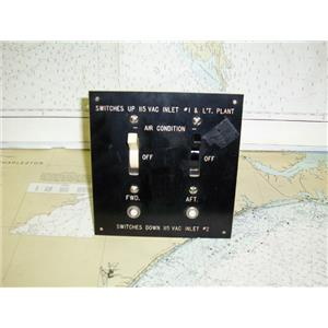 Boaters Resale Shop of TX 1504 2022.07 DOUBLE AIR CONDITION SWITCH PANEL
