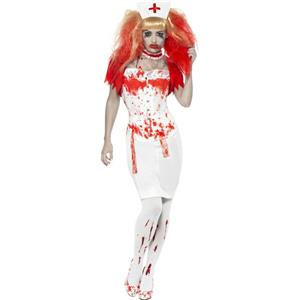 Smiffy's Women's Blood Drip Nurse Adult Zombie Costume Small 6-8