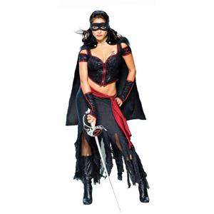 Secret Wishes Sexy Lady Zorro Women's Adult Costume Size Small 2-6