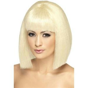 Smiffy's Women's Blonde Coquette Short with Fringe and Bangs Wig