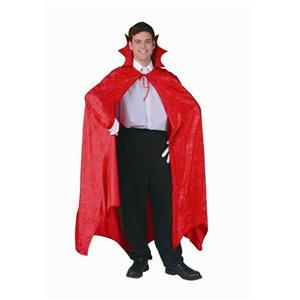 "RG Costumes 56"" Full Length Red Velvet Dracula Cape Costume Accessory 75037"
