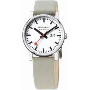 Mondaine Swiss Railways Watch A627.30303.11SBK Evo Big Date.Taupe Strap.40mm