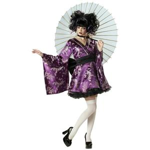Lovely Lolita Purple Kimono Adult Costume Small