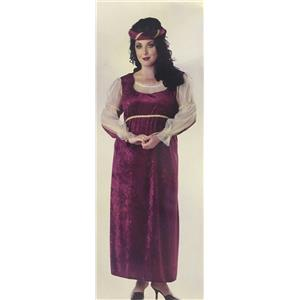 Women's Caterina Burgundy Renaissance Plus Size Adult Costume up to Size 22