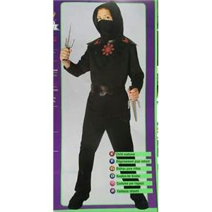 Rubie's Boy's 39104 Black Ninja Child Costume Size Medium 8-10