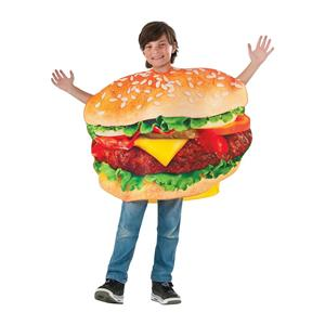 Grill-ty As Charred Burger Unisex Child Costume Tunic