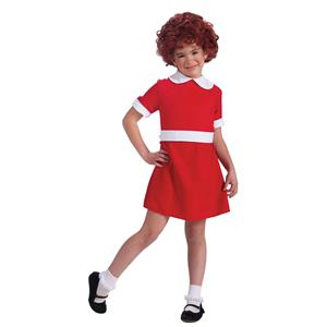 Forum Novelties Girls Little Orphan Annie Child Costume Red Dress Size Small 4-6
