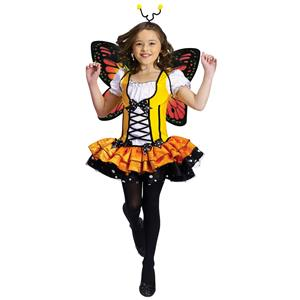 Fun World Girls' Monarch Butterfly Princess Child Costume Large 12-14