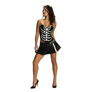 Secret Wishes Sexy Women's Skeleton Shirt And Skirt Costume Set Size XS 0-2