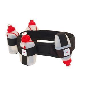 FuelBelt Revenge I 3-Bottle, 1-Gel Flask Running Belt Black Size M