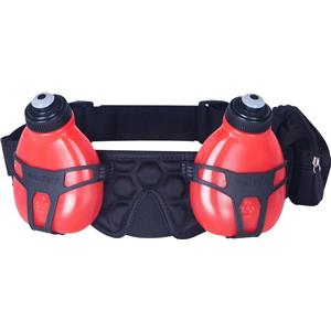 Fuelbelt Helium H2O 2-Bottle Belt Black/Rush Red