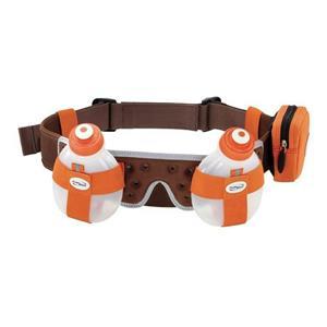 Fuelbelt Helium H2O 2-Bottle Belt Tangerine/Cocoa