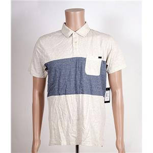 Quiksilver Shore Break Polo White Heather/Blue Medium