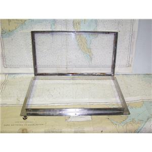 """Boaters Resale Shop of TX 1607 2745.11 HINGED WINDOW WITH FRAME- 2"""" x 11' x 20"""""""