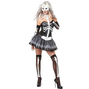 California Costumes Women's Skeleton Masquerade Sexy Adult Costume Small 6-8