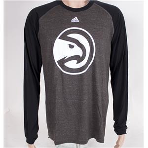 Adidas NBA Atlanta Hawks Basketball Men's Shirt Large Grey/Black