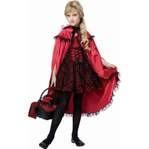 California Costumes Deluxe Red Riding Hood Girls Costume Large 10-12