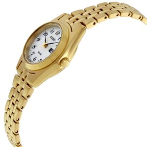 Seiko Womens SUT118 Gold Tone Day/Date Easy Reader Solar Batteryless Watch
